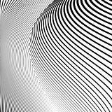 Design monochrome lines movement illusion background