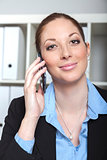 businesswoman with smartphone