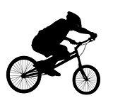 Biker vector silhouette