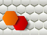 Hexagons technology and communication backgroun