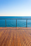 Empty ocean viewpoint deck