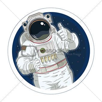 Astronaut gesture okay