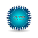 Halftone design element