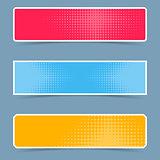 Halftone creative banners