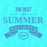 Summer holidays vector typography