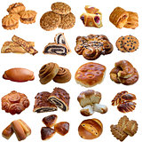 Assortment of baked bread.