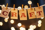 Craft Concept Clipped Cards and Lights