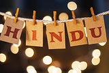 Hindu Concept Clipped Cards and Lights