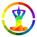 Yoga icon isolated over white background