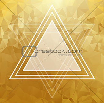 Gold crystal abstract pattern. Business Design
