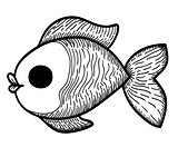Cartoon Hand Drawn Fish