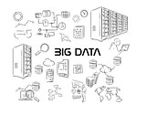 big data server vector illustration