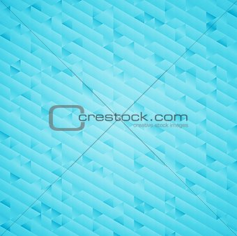 Abstract bright blue geometric background