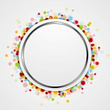 Circle design with shiny light