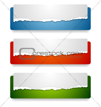 Abstract web headers design. Vector banners