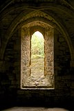 Arched window and vaulting in Battle Abbey