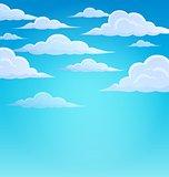 Clouds on sky theme 1