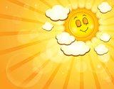 Image with happy sun theme 4