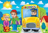 Image with school bus topic 7