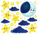 Moon and stars theme collection 1