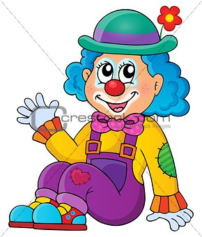 Sitting clown theme image 1