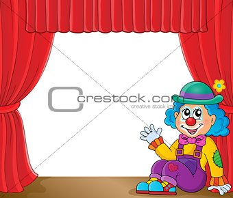 Sitting clown theme image 2