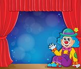 Sitting clown theme image 3