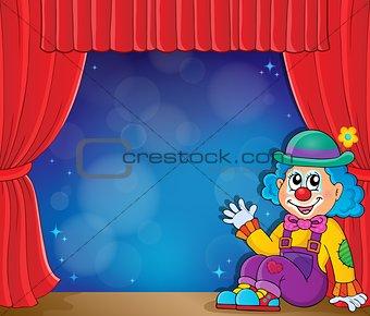 Sitting clown theme image 3