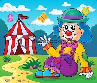 Sitting clown theme image 4