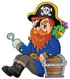 Sitting pirate theme image 1