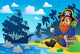 Sitting pirate theme image 2