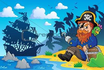 Sitting pirate theme image 2