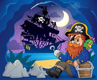 Sitting pirate theme image 3