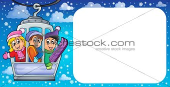 Small frame with cable car theme