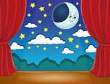Stage with happy moon