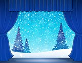 Stage with winter theme 1