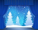 Stage with winter theme 2