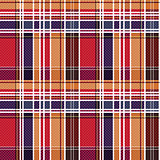 Tartan seamless texture mainly in red and blue hues