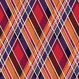 Rhombic tartan seamless texture mainly in warm hues