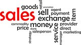 word cloud - sales