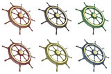 Set ship wheel