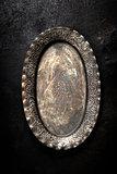Vintage metal plate