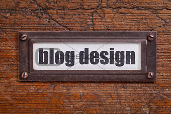 blog design file  label