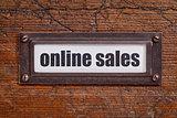 online sales file cabinet  label