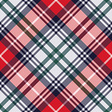Diagonal tartan seamless texture in red and light grey hues