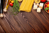 Italian food cooking ingredients