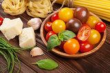 Italian food cooking ingredients