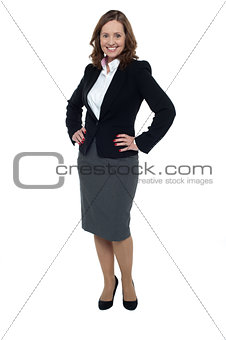 Charming middle aged businesswoman