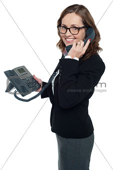 Business professional on phone