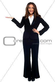 Portrait of beautiful corporate female